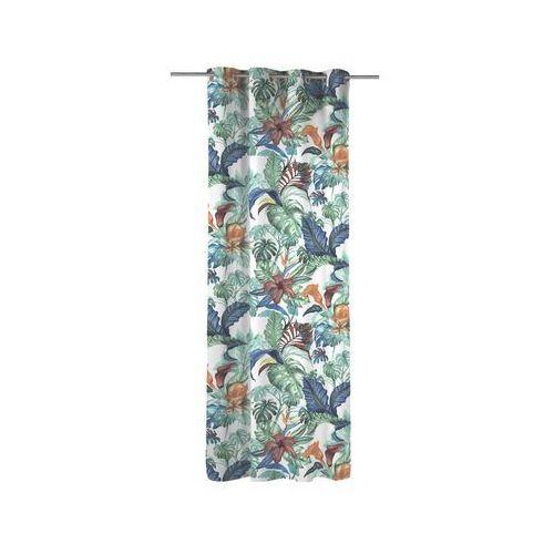 Inspire Firana na przelotkach malibu 140 x 270 cm zielona