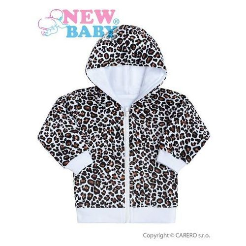 Bluza z kapturem dla niemowląt New Baby Lampart biała