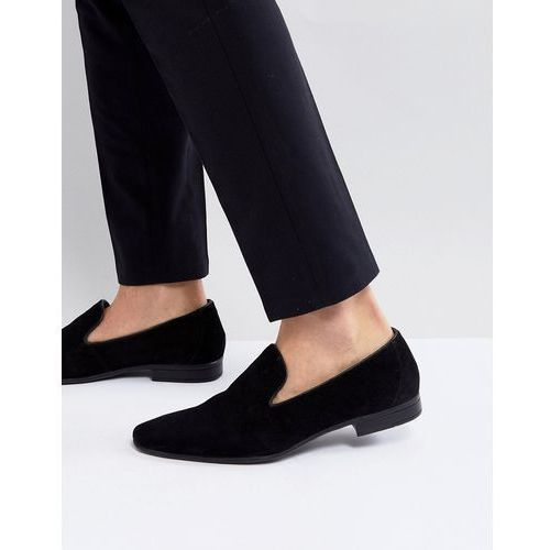 suede loafers in black - black, Pier one