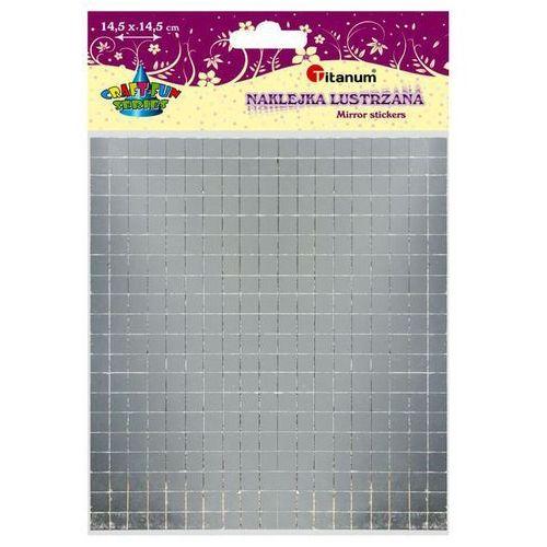 Titanum Lustrzana naklejka kwadraty 8x8mm 380szt craft-fun (5907437703038)