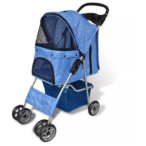 vidaXL Wózek do spacerów z pieskiem (niebieski)