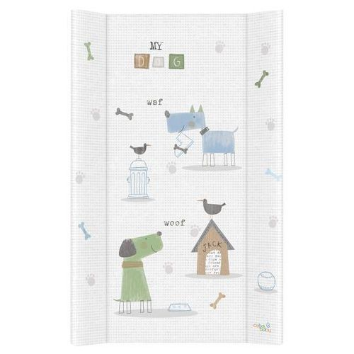 przewijak na łóżeczko usztywniony 50x70 pieski niebiesko-zielone marki Mamo-tato