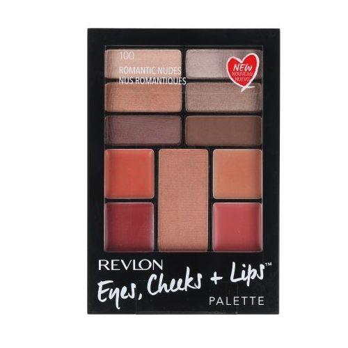 Revlon eyes, cheeks + lips zestaw 15,64 g paleta do makijażu dla kobiet 100 romantic nudes
