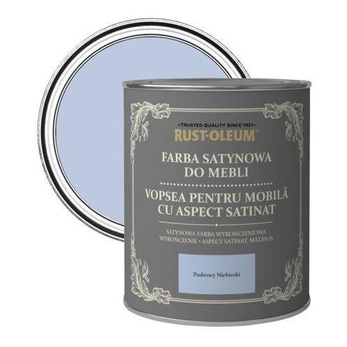 Farba do mebli Rust-Oleum pudrowy niebieski satyna 0,125 l, kolor niebieski