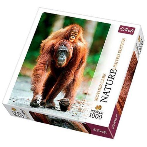 Puzzle 1000 Orangutan, Indonezja - Nature Limited Edition Mother Care