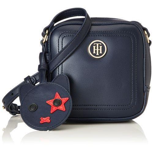 damski th mascot camera bag torba na ramię, niebieska (tommy granatowy (marynarski)), 15.5 x 6 x 15 cm marki Tommy hilfiger