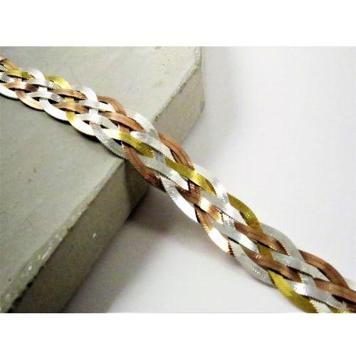 Megasilver Srebrny łańcuszek plecionka 50 cm warkocz
