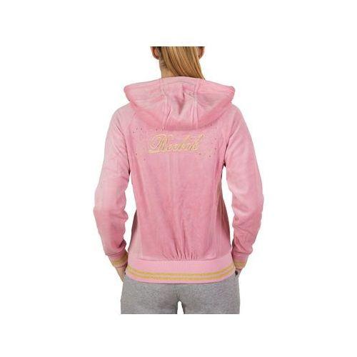 Bluza Reebok W Velour Jacket X66842 - Różowy, kolor różowy