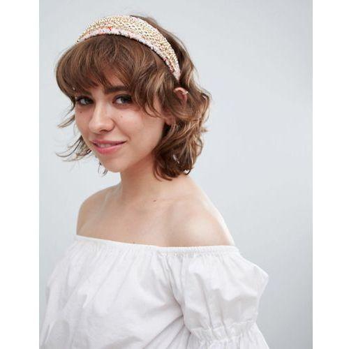 tweed chain headband - pink marki River island