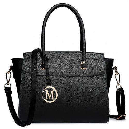 Klasyczna torebka na ramię miss lulu lt1625 czarny, kolor czarny