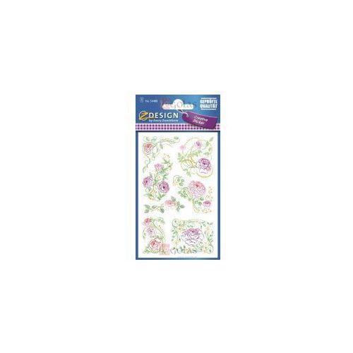 Naklejki z kwiatami - Pastelowe Róże (4004182544884)