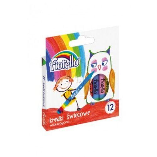 Kredki świecowe 12 kolorów Fiorello (5903364244798)