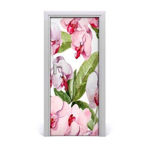 Okleina samoprzylepna fototapety na drzwi orchidea marki Tulup.pl