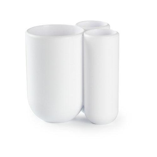 Umbra - pojemnik na szczoteczki do zębów - biały - touch - biały
