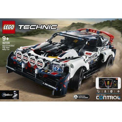 42109 auto wyścigowe top gear sterowane przez aplikację (app-controlled top gear rally car) klocki technic marki Lego