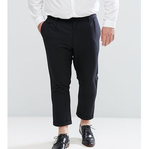 plus cropped trousers with pleated front - black, Bellfield