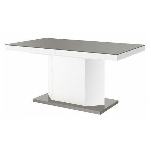 Producent: elior Rozkładany stół biało - szary połysk - walder 3x