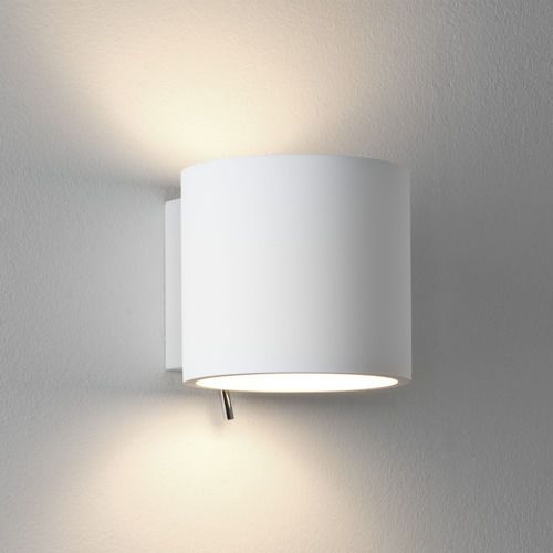 Brenta 130 plaster wall light, 0916