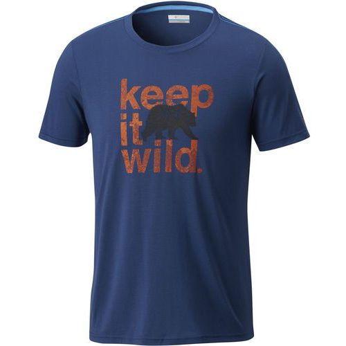 Columbia miller valley short sleeve tee tshirt z nadrukiem carbon (0190893500968)