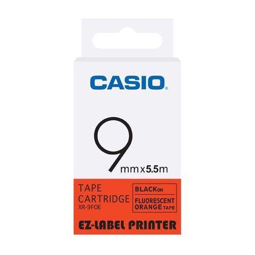 Casio taśma etykiet fluorescencyjna XR-9FOE, XR9FOE, XR-9FOE