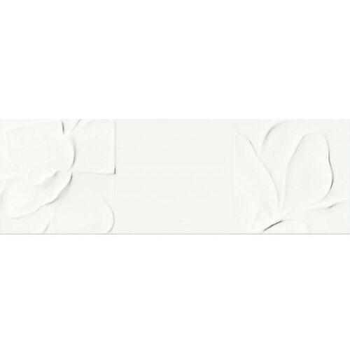 Opoczno Strukture pattern white flowers 25x75 gat ii