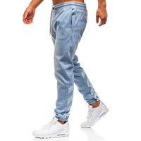 Spodnie jeansowe baggy męskie jasnoniebieskie denley 2040, Otantik