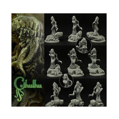 Scibor 28cm0009 - cthulhu cultist #3 28mm marki Scibor miniatures