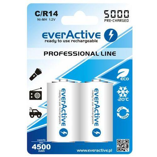 Akumulatory everActive R14 C Ni-MH 5000 mAh ready to use 2 sztuki (5902020523390)