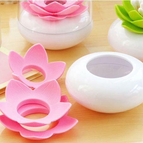 Giftworld Lotos pojemnik na pałeczki i wykałaczki - różowy