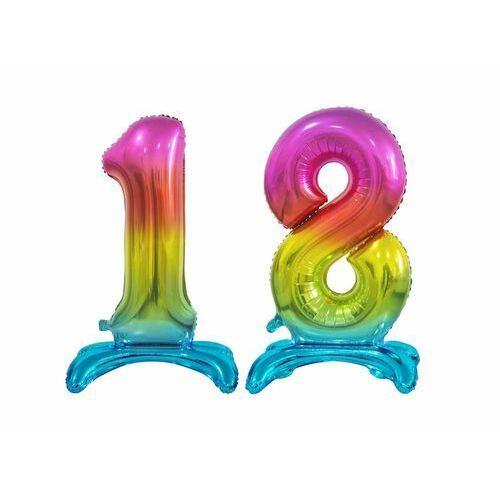 Godan Zestaw balonów foliowych 18 tęczowa - 74 cm