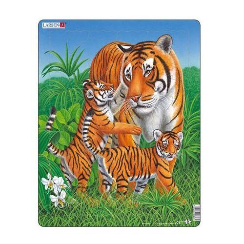 Puzzle maxi - tygřice s malými tygry/23 dílků marki Neuveden