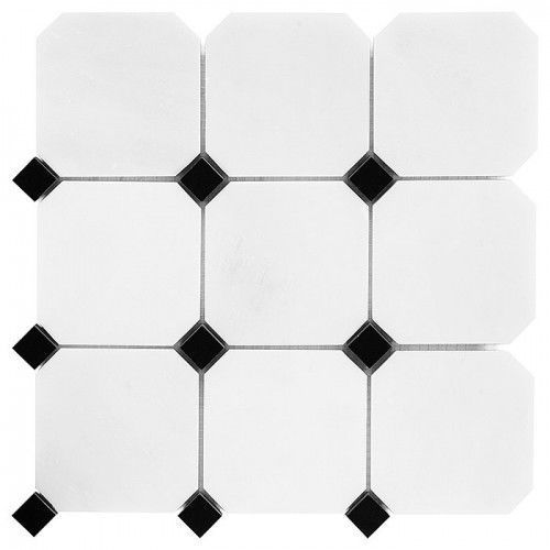Dunin black & white mozaika kamienna pure b&w octagon 100