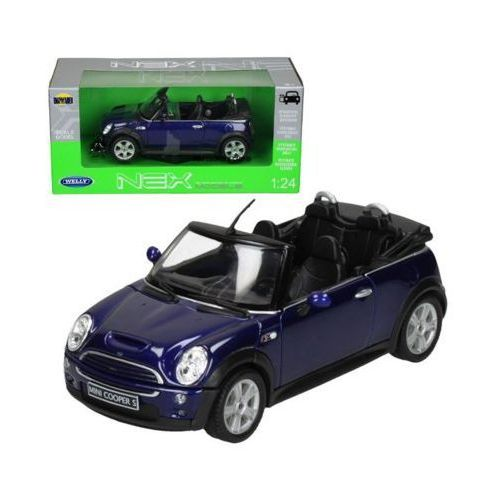 WELLY Mini Cooper S Cabr io, niebieskiMINI COOPER - DARMOWA DOSTAWA OD 199 ZŁ!!!