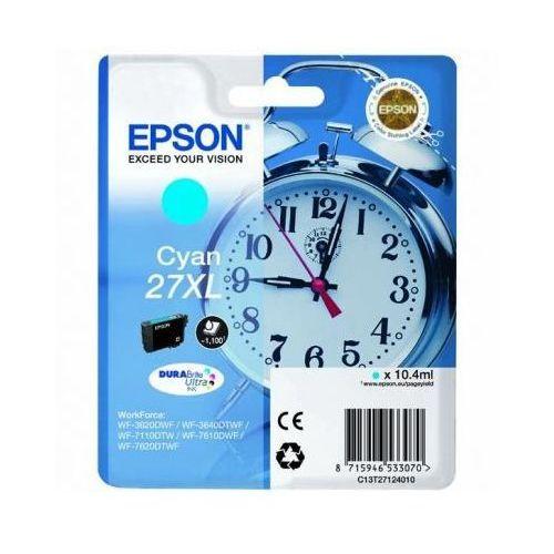Tusz Oryginalny 27xl Błękitny do Epson WorkForce WF-7110 DTW - DARMOWA DOSTAWA w 24h