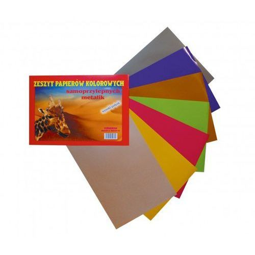 Cormoran Zeszyt papierów kolorowych a4 samoprz metalik (5906609050802)