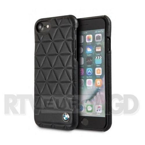 hexagon case - etui skórzane iphone 8 / 7 (czarny) marki Bmw
