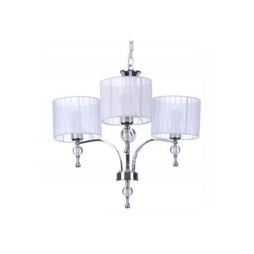 Azzardo Impress 3 AZ1006 1976-3P WH Lampa wisząca zwis oprawa 3x60W E27 chrom/biały, kolor biały