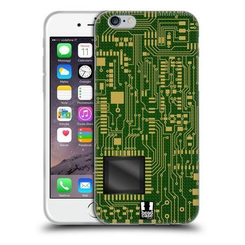 Etui silikonowe na telefon - Circuit Boards DARK GREEN, kolor zielony