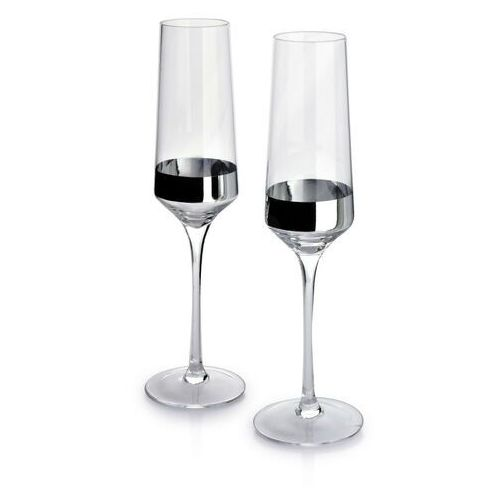 Mirella silver kpl. 2 kieliszków szampana 220ml 4.2x6.5xh23.5cm marki Sofa.pl