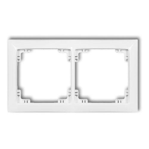 Deco ramka uniwersalna podwójna z tworzywa deco soft biały drso-2 marki Karlik elektrotechnik sp. z o.o.