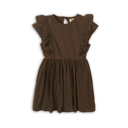 Sukienka dziewczęca brązowa 4k38as marki Minoti