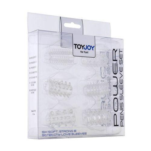 Toy joy 6 nakładek na penisa power clear 6010024