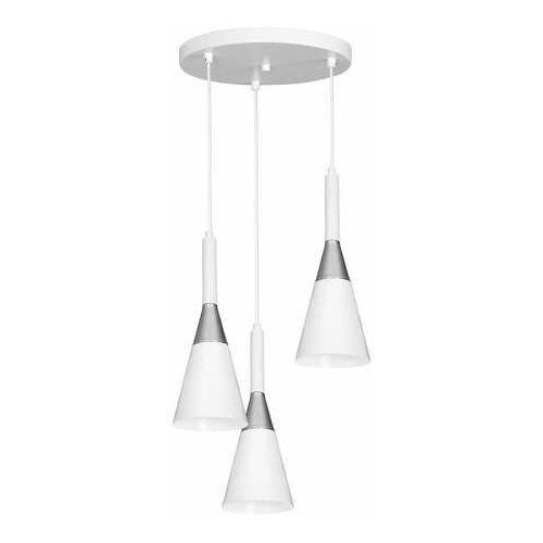 Luminex Benito 1976 lampa wisząca zwis 3x60W E27 biała/chrom