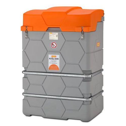 Zbiornik na zużyty olej cube, outdoor premium, ze składaną pokrywą, poj. 1000 l. marki Cemo
