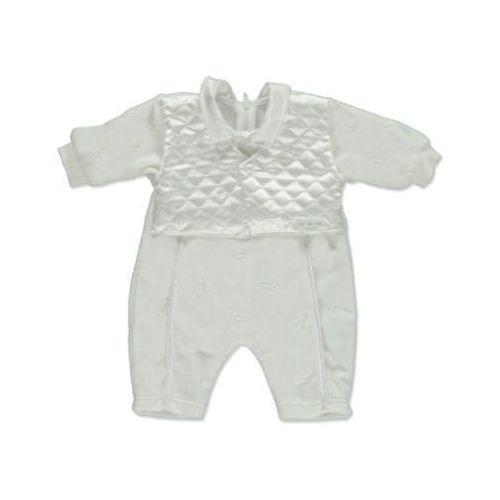 CARLINA Girls Baby Śpioszki do chrztu kolor biały, kolor biały