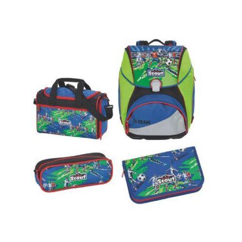 SCOUT Alpha Plecak z akcesoriami szkolnymi, 4-częściowy - Drużyna piłkarska (4007953404165)