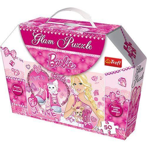 Puzzle  glam barbie 14805 (50 elementów) marki Trefl