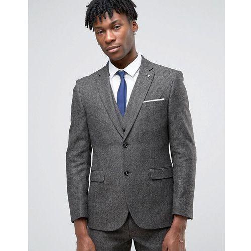Original Penguin Formal Brown Herringbone Suit Jacket - Brown