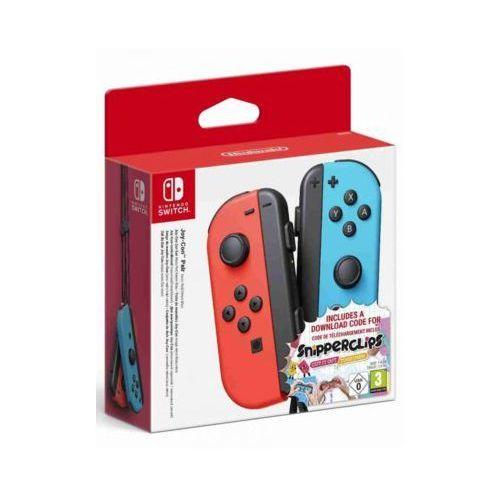 Kontroler switch joy-con pair neon czerwony/niebieski - snipperclips bundle marki Nintendo