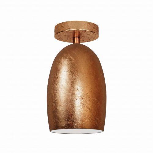 Sotto luce Plafon lampa sufitowa ume elementary cp 1/c/copper leaves/opal szklana oprawa natynkowa miedź (5902429630774)